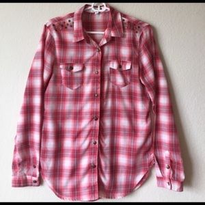 Dream out Loud by Selena Gomez - Studded Plaid Top